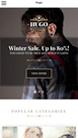 Screenshot of WooCommerce theme for WordPress Hugo on Smartphone