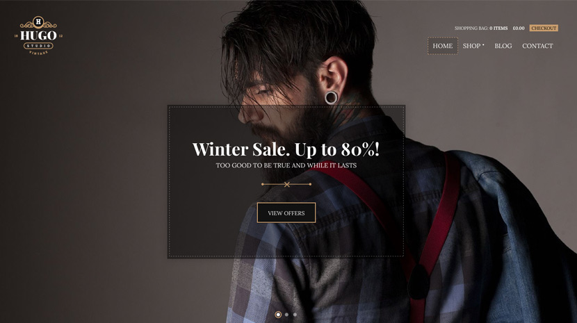 Screenshot of WooCommerce theme for WordPress Hugo on Desktop