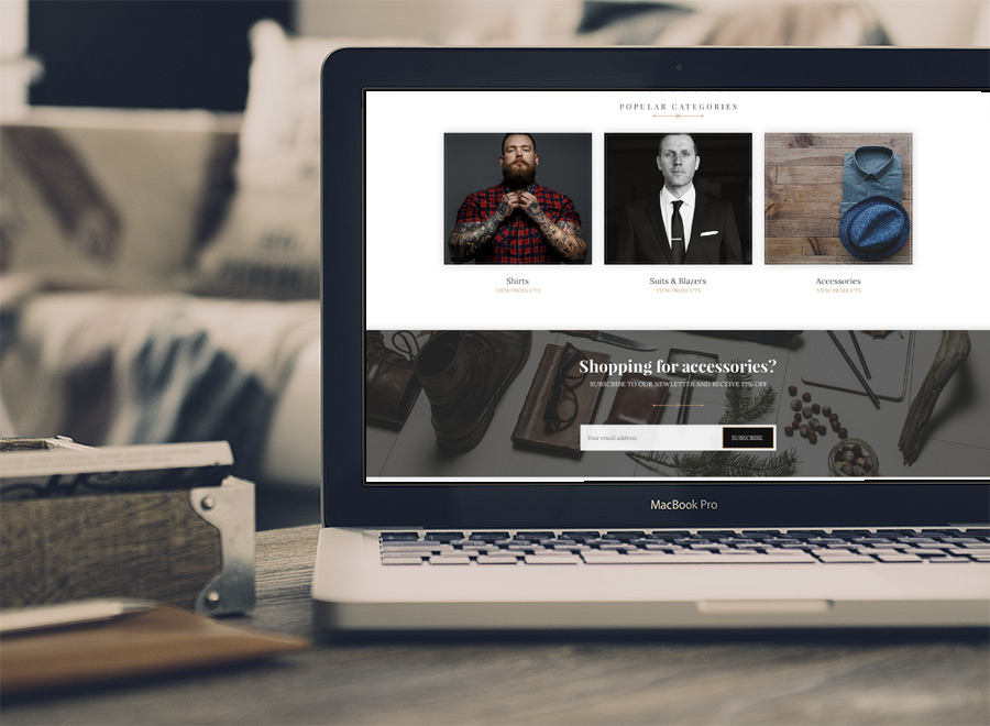 Screenshot of WooCommerce theme for WordPress Hugo on Tablet