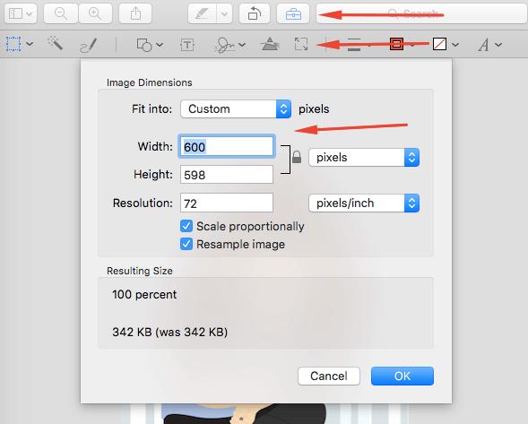 mac change image size