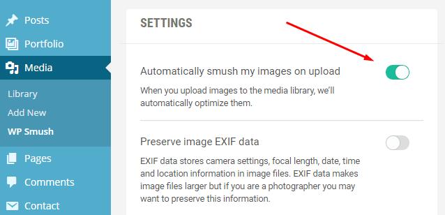 wp smush settings