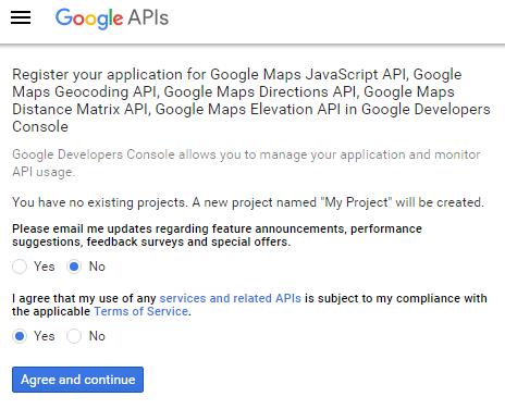 Generate a Google maps API key • CSSIgniter