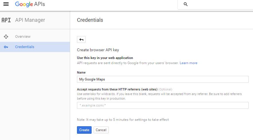 Generate a Google maps API key – CSSIgniter