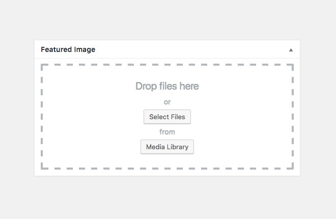 Screenshot of Drag and drop featured image WordPress Plugin