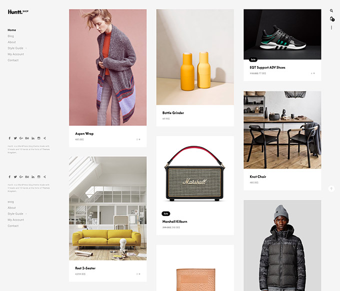 Huntt WooCommerce Theme