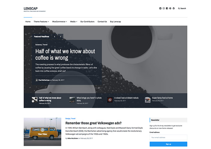 Lenscap WordPress Theme
