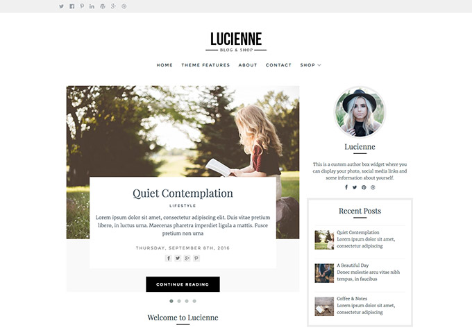 Lucienne WordPress Theme