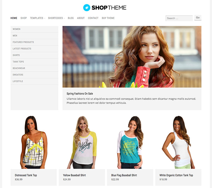 ShopTheme WooCommerce Theme