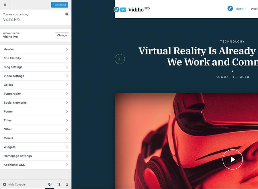 Vidiho Pro Video Theme For Wordpress