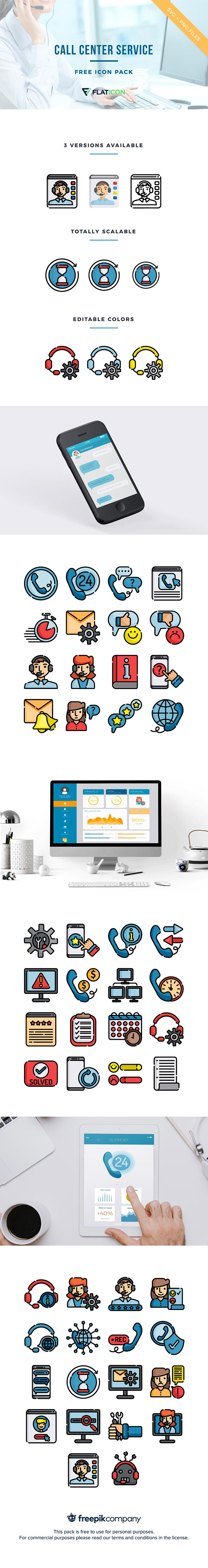 call center services - free icon pack